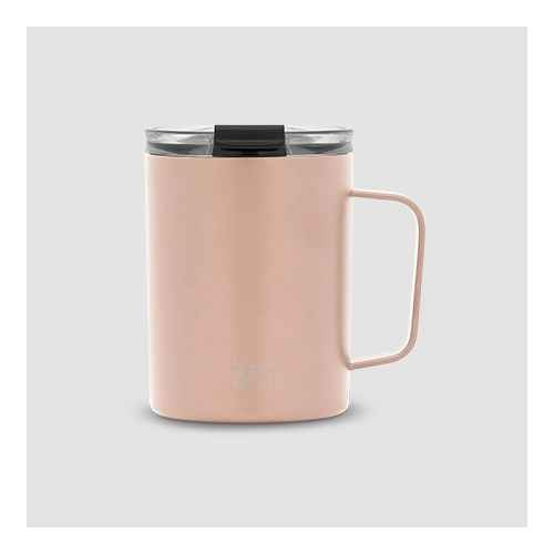 Simple Modern 12oz Stainless Steel Scout Mug with Clear Flip Lid Rose Gold