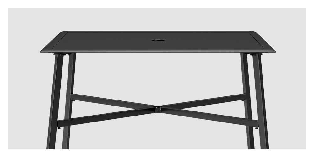 Fisher 4-person Square Patio Dining Table - Black - Project 62™