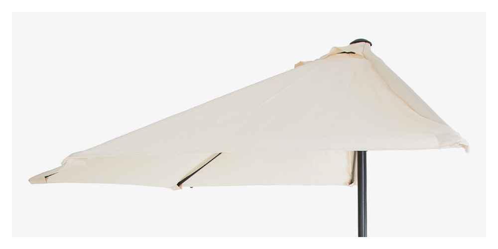 4.33' x 7.67' Half Round Patio Umbrella - Off White - Pure Garden