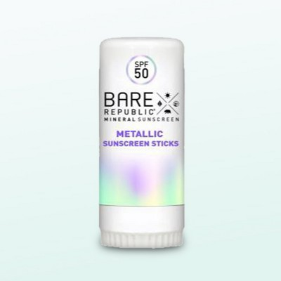 Bare Republic Mineral Shimmer Holographic Sunscreen Stick - SPF 50 - .3oz