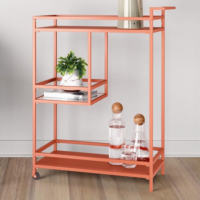 Glasgow Metal Bar Cart Orange Shade - Project 62™