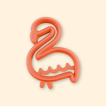 Itzy Ritzy Silicone Teether Flamingo - Coral