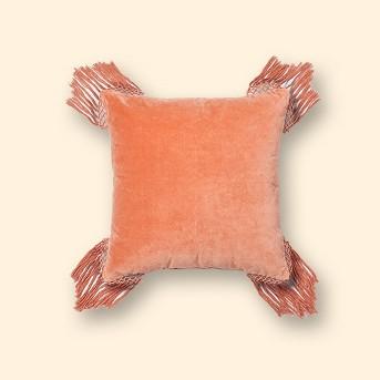 Coral Velvet Fringe Euro Pillow - Opalhouse™