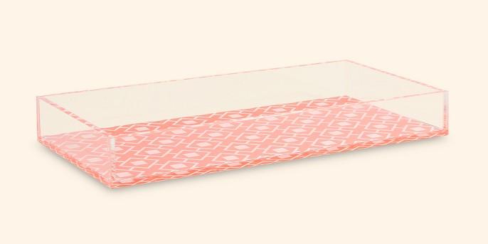 SOHO Rectangular Acrylic Printed Tray Coral Geo Print
