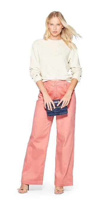 Women's Corduroy Street Sweeper Pants - Who What Wear™ Pink