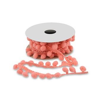 Offray Mini Pom Pom - 3 yards - Coral