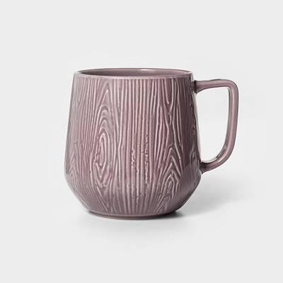 16oz Stoneware Wood Grain Mug - Project 62™