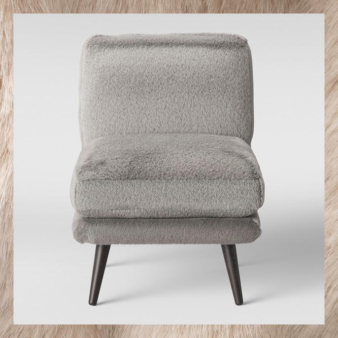 Harper Faux Fur Slipper Chair - Project 62™