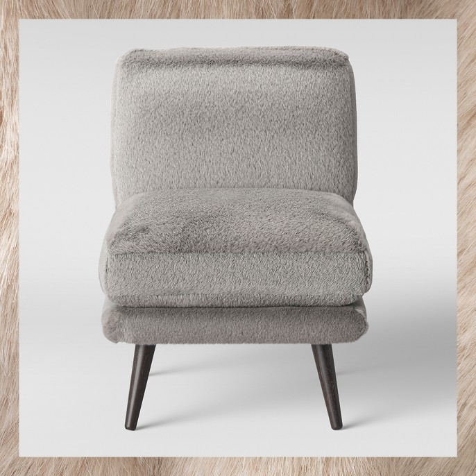 Harper Faux Fur Slipper Chair - Project 62™
