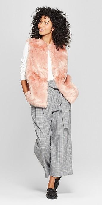 Women's Faux Fur Vest - A New Day™