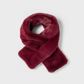 Women's Faux fur Mini Pull through Stole Scarf - A New Day™