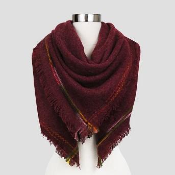 Sylvia Alexander Edged Stitching Blanket Scarf