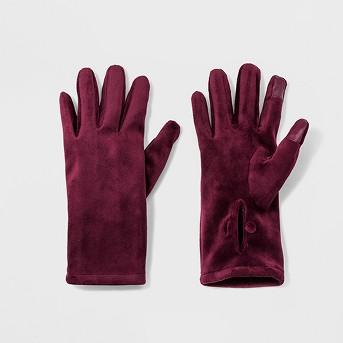 Women's Mid-Wrist Velvet Gloves - A New Day™