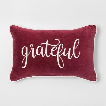 'Grateful' Lumbar Throw Pillow - Threshold™