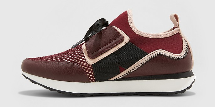 Women's Deena Lace Up Sneakers - A New Day™ Burgundy