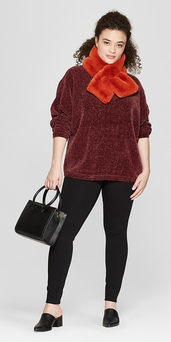 Women's Plus Size Dolman Sleeve Chenille Pullover - A New Day™