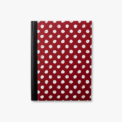 Dotted Notebook Wide Ruled Red - Vital Voices