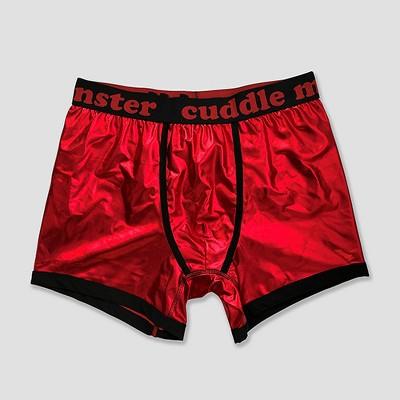 Men's Cuddle Monster Boxer Briefs - Red