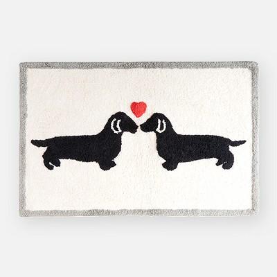 Two Dogs Heart Bath Rug (20x30