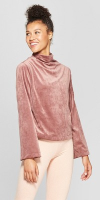 Women's Velour Fleece Pullover - JoyLab™ Rose Taupe