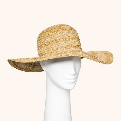 Women's Mix Braid Floppy Hat - A New Day™ Natural