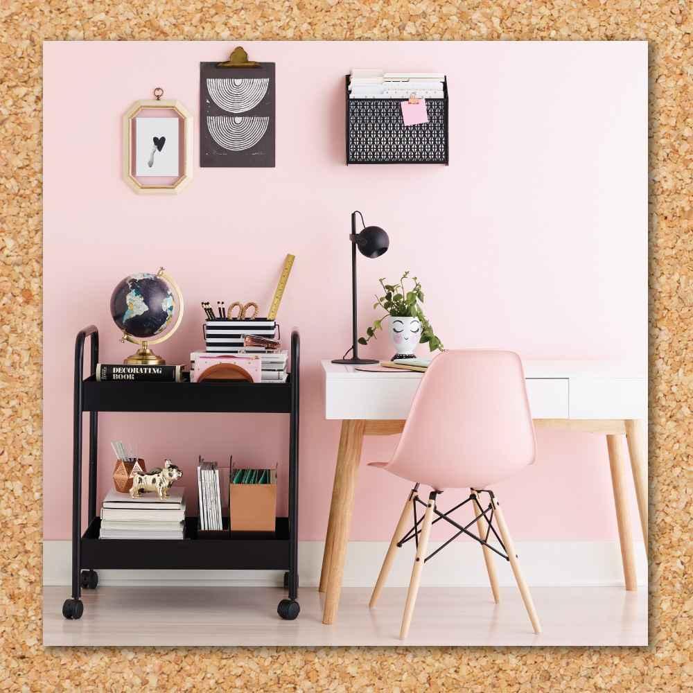 Desktop Globe w/ Gold Base - Threshold™, RUSSELL + HAZEL Acrylic Stapler Gold, Oslo 1 Drawer Desk White - Breighton Home