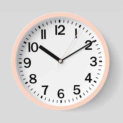 "9"" Round Wall Clock Blush - Room Essentials™, World Globe Black & White - Project 62™"