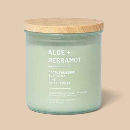 14.5oz Glass Jar Aloe and Bergamot Candle - Project 62™, 5oz Glass Jar Jasmine and Ylang Candle - Project 62™, 5oz Glass Jar Vetiver and Cedarwood Candle - Project 62™
