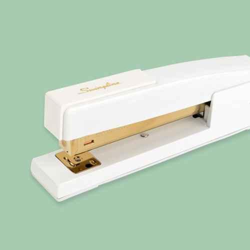 20 Sheet Capacity Stapler White/Gold - Sugar Paper