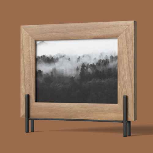 """5""""x7"""" Natural Frame with Stand Brown - Project 62™, U Brands 150ct Wooden Push Pins with Jar"""