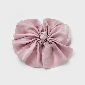 Metal Jumbo Satin Fabric Bow Barrette - Wild Fable™ Pink