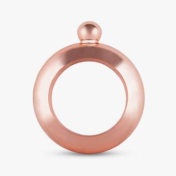 True Fabrications 4oz Metal Bracelet Flask - Rose Gold