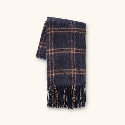 Faux Mohair Grid Throw Blanket - Threshold™
