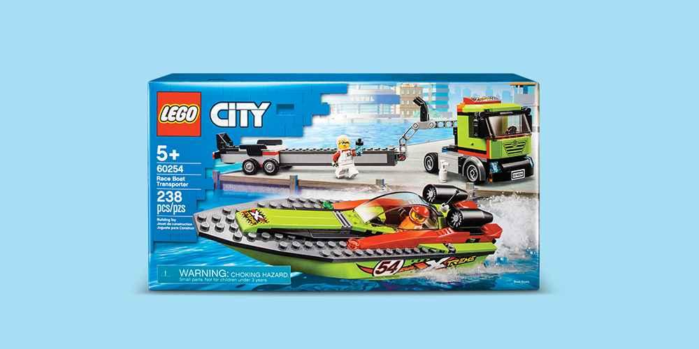 LEGO City Race Boat Transporter 60254 Race Boat Toy