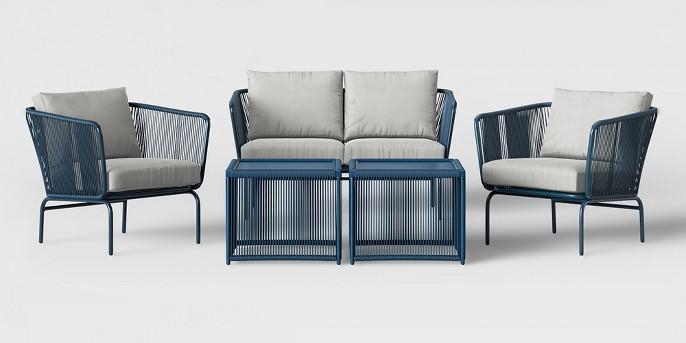 Fisher 5pc Patio Conversation Set - Blue - Project 62™