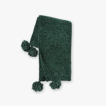 Shiny Chenille With Corner Tassels Throw Blanket - Opalhouse™
