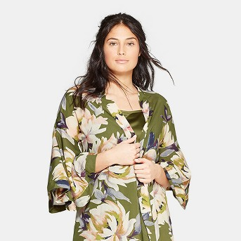 Women's Floral Print Simply Cool Robe - Stars Above™ Green