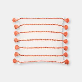 Chunky Stripe Oversize Square Throw Pillow Orange - Opalhouse™