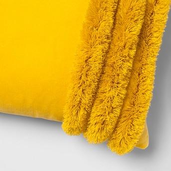 Velvet Fringed Oversize Lumbar Throw Pillow - Opalhouse™