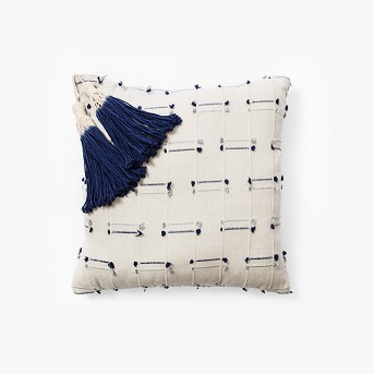 Square Washed Texture Bed Lumbar Pillow Blue - Opalhouse™