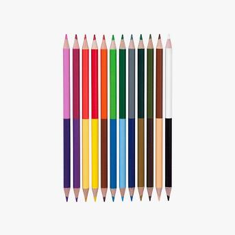 Yoobi™ Double-Ended Colored Pencils - Multicolor, 12pk