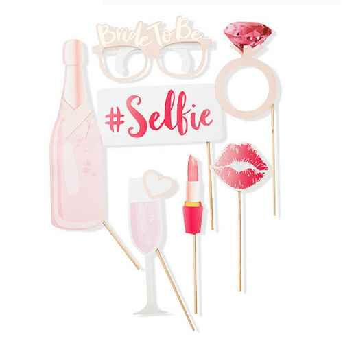 10ct Hen Party Photo Booth Props