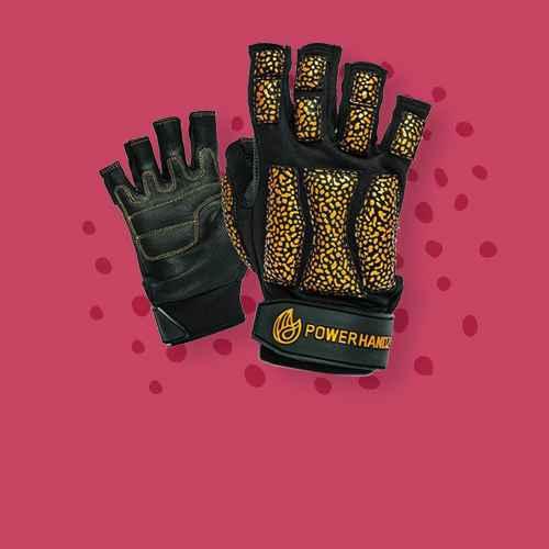 POWERHANDZ Powerfit Fingerless Weighted Training Gloves - S