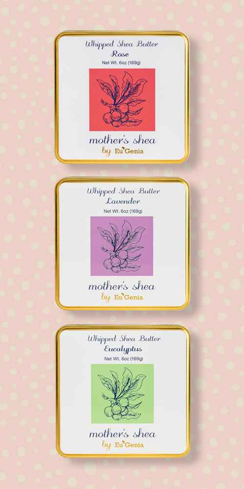 mother's shea Whipped Body Butter - Lavender - 6oz, mother's shea Whipped Body Butter - Eucalyptus - 6oz, mother's shea Whipped Body Butter - Rose - 6oz
