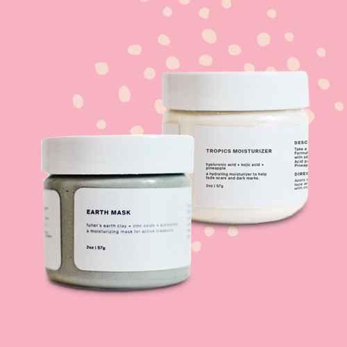 ROSEN Skincare Earth Mask - 2oz, ROSEN Skincare Tropics Moisturizer - 2oz