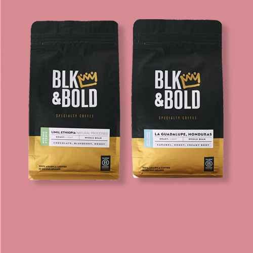 BLK & Bold Limu Ethiopia Natural Processed, Light Roast Whole Bean - 12oz, BLK & Bold La Guadalupe Honduras, Light Roast Whole Bean - 12oz