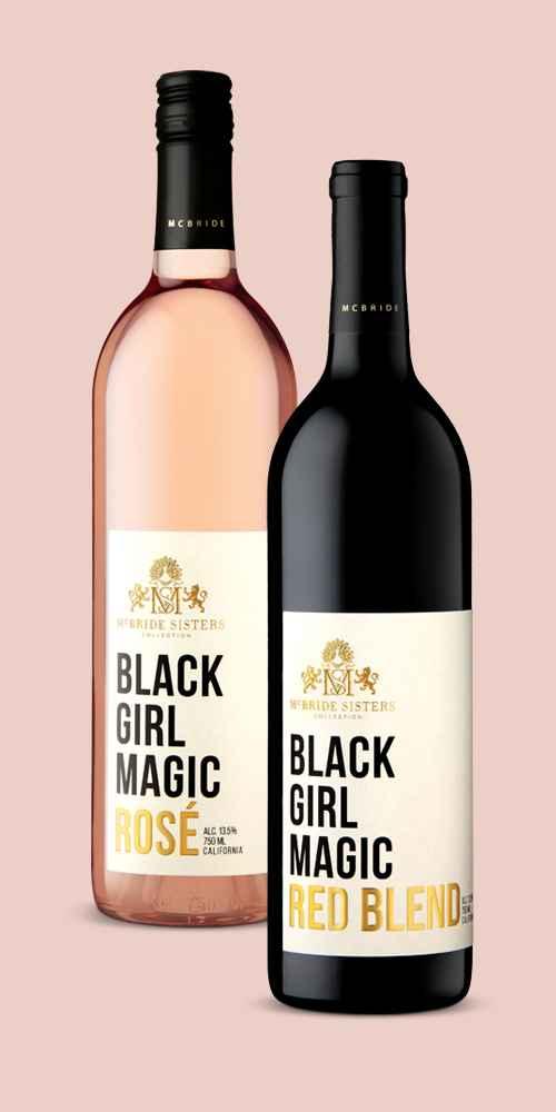 Black Girl Magic Rosé Wine - 750ml Bottle, Black Girl Magic Red Blend Wine - 750ml Bottle
