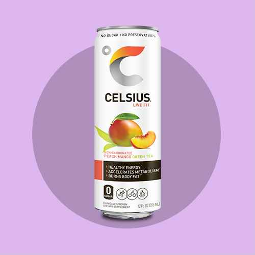 Celsius Green Tea Peach Mango Energy Drink - 12 fl oz Can