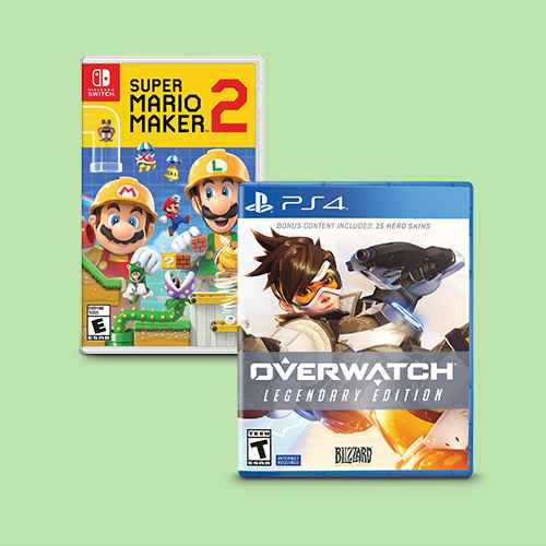 Super Mario Maker 2 - Nintendo Switch, Overwatch: Legendary Edition - PlayStation 4