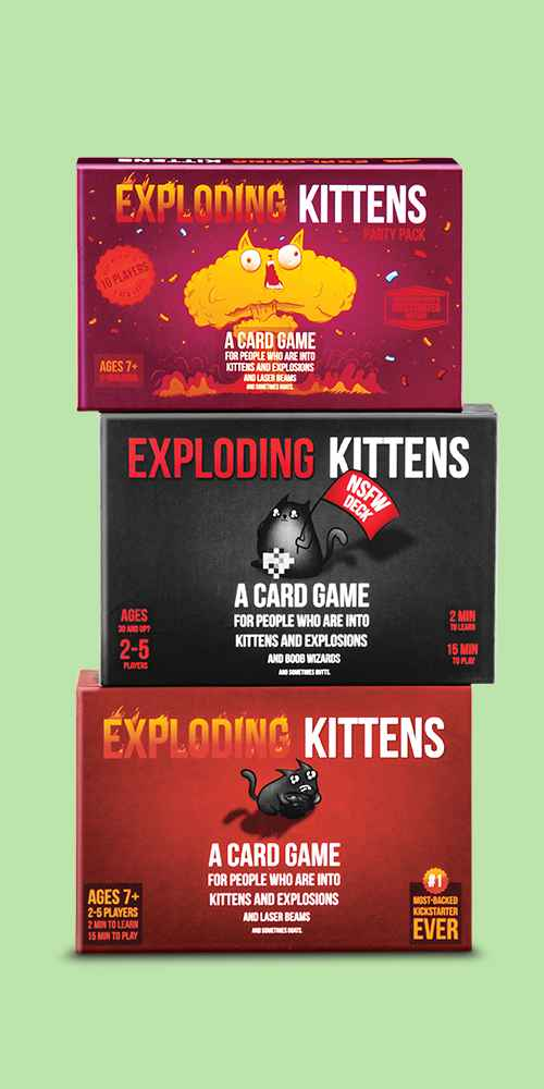 Exploding Kittens NSFW (Adults Only) Game, Exploding Kittens Game, Exploding Kittens Party Pack Game